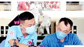 Các trọng tài tham gia lớp tập huấn chuẩn bị điều hành V-League 2020. Ảnh: DŨNG PHƯƠNG