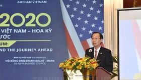 Phó Chủ tịch Thường trực UBND TPHCM Lê Thanh Liêm phát biểu tại diễn đàn. Ảnh: thanhuytphcm.vn