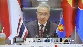 Đại biểu Thái Lan phát biểu trực tuyến. Ảnh: TTXVN