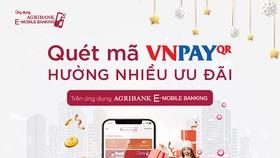 """Quét Vnpay QR nhận """"mưa"""" ưu đãi cùng Agribank e-Mobile Banking"""