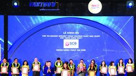 SCB vào Tốp 50 doanh nghiệp tăng trưởng xuất sắc nhất Việt Nam năm 2021