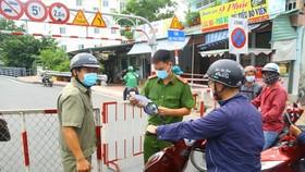 Lập chốt kiểm soát tại các hẻm thông từ quận Gò Vấp