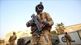 Lực lượng đặc nhiệm Iraq tuần tra tại thành phố Basra. Ảnh tư liệu: AFP/TTXVN