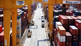 Các container hàng hóa tập kết tại cảng Busan, Hàn Quốc. Ảnh: REUTERS