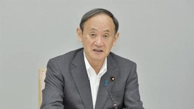 Thủ tướng Nhật Bản Suga Yoshihide phát biểu tại thủ đô Tokyo ngày 25-8-2021. Ảnh: Kyodo