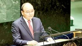 Phát biểu trước ĐHĐ LHQ khóa 76, Chủ tịch nước Nguyễn Xuân Phúc: Việt Nam chung nhịp đập sẻ chia, yêu thương, hợp tác với thế giới