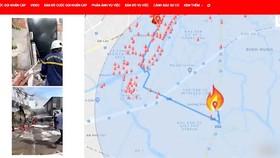 Xác định tính chất, vị trí cháy chính xác khi sử dụng app Help 114