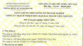 Công ty Viễn thông Thiên Tú phản hồi thông tin về Công ty TNHH ĐTDV Thiên Tú FN