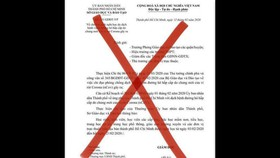TPHCM: Lan truyền văn bản giả mạo của Sở GD-ĐT TPHCM về thời gian học sinh đi học trở lại
