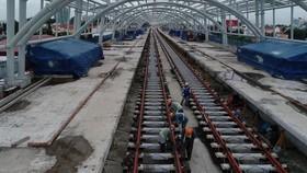 Tuyến metro số 1 đang gấp rút hoàn thành. (Ảnh BQL cung cấp)