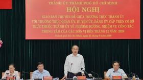 TPHCM gấp rút hoàn thành các nhiệm vụ đến cuối năm 2020