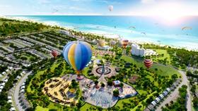 Một dự án bất động sản ven biển tại Phan Thiết do Tập đoàn Novaland đầu tư đang được triển khai.