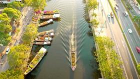 """Văn hóa """"trên bến dưới thuyền"""" tại quận 8, sẽ tạo nên nét riêng biệt cho không gian văn hóa công cộng TPHCM Ảnh: DŨNG PHƯƠNG"""