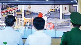 Đoàn kiểm tra giám sát công tác phòng chống dịch  tại cảng biển Cát Lái
