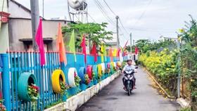 Tuyến đường kiểu mẫu ở Khu dân cư kiểu mẫu, ấp 5 xã Bình Lợi, huyện Vĩnh Cửu, tỉnh Đồng Nai.