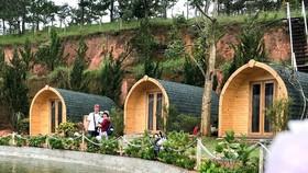 Nhiều địa phương khai thác du lịch chọn xây dựng bằng vật liệu siêu nhẹ để thiết kế làm homestay ẢNH: HOÀNG HÙNG