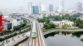 Dự án Đường sắt đô thị Hà Nội tuyến Cát Linh - Hà Đông Ảnh: QUANG PHÚC