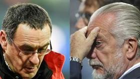 Ông bầu Aurelio De Laurentiis vẫn bực bội Maurizio Sarri.