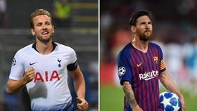 Harry Kane và Lionel Messi