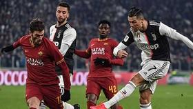 Ronaldo và Juventus trong trận gặp AS Roma