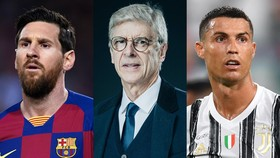 Leo Messi, Arsene Wenger, Cristiano Ronaldo