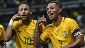Neymar và Gabriel Jesus ở tuyển Brazil