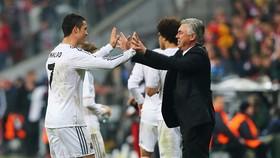 Ronaldo và Carlo Ancelotti ở Madrid