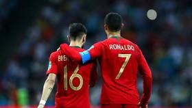 Bruno Fernandes và người đồng hương Cristiano Ronaldo
