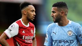 Tiền đạo Arsenal Aubameyang và Mahrez (Man City)