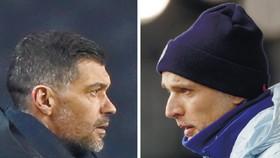 HLV Sergio Conceicao của Porto và Thomas Tuchel của Chelsea