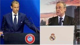Chủ tịch UEFA, Aleksander Ceferin và Chủ tịch Real Madrid Florentino Perez