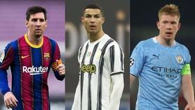 Messi, Ronaldo và De Bruyne