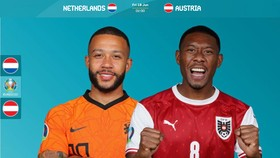 Memphis Depay (Hà Lan) và David Alaba (Áo)