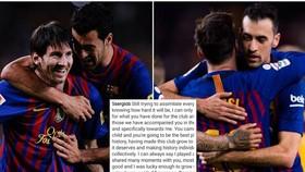 Sergio Busquets đã gắn bó với Messi 13 mùa giải