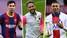 Leo Messi, Neymar và Kylian Mbappe