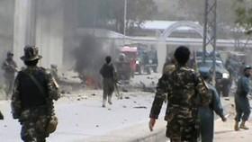 Hiện trường vụ đánh bom đồn cảnh sát ở quận Spin Boldak. Ảnh: The Nation