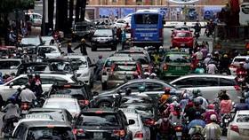 Kẹt xe đang là vấn nạn tại TP.HCM