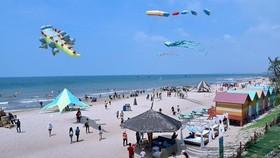 Bãi biển ở Bình Thuận.