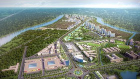Phối cảnh quy hoạch tổng thể dự án thành phố bên sông Waterpoint 355ha