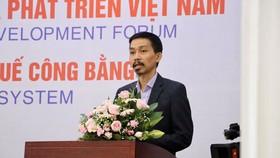 Ông Nguyễn Đức Thành, Viện trưởng VEPR, phát biểu tại Diễn đàn Tài khóa và Phát triển Việt Nam 2019.