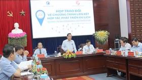 Quang cảnh cuộc họp trao đổi giữa lãnh đạo 13 tỉnh, thành phố của ĐBSCL và TPHCM. Ảnh: PHONG LAM