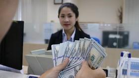 Giao dịch kiều hối tại một ngân hàng trên đường Nguyễn Thị Minh Khai, Q.3, TP.HCM - Ảnh: N.PHƯỢNG