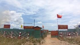 Lối vào khu đất thuộc dự án KCN Phong Phú mà GTP đang kêu cứu.