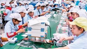 Dây chuyền sản xuất của DN FDI tại Thái Nguyên. Ảnh: VIẾt CHUNG