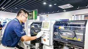 Cận cảnh dây chuyền sản xuất Panasonic Việt Nam. Ảnh: VIẾT CHUNG