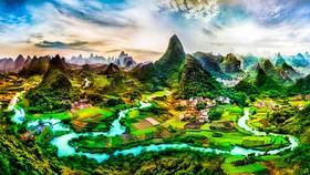 Địa danh du lịch nổi tiếng Dương Sóc, thuộc huyện Quế Lâm, Trung Quốc.