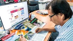 Báo in chuyên sâu với nhiều phân tích, bình luận và dự báo của các chuyên gia và đội ngũ biên tập của bản báo,  vẫn có tính đặc thù riêng cho nhiều độc giả là doanh nhân, nhà đầu tư... Ảnh: T.H