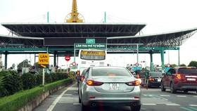 Làn thu phí không dừng - VETC tại Trạm thu phí Mỹ Lộc, Nam Định. Ảnh: QUANG PHÚC