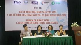 Việt Nam tăng 14 bậc xếp hạng công khai minh bạch ngân sách