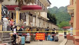 Khu cách ly tập trung lưu học sinh Lào tại trường Cao đẳng y tế Sơn La. (Ảnh: Hữu Quyết/TTXVN)